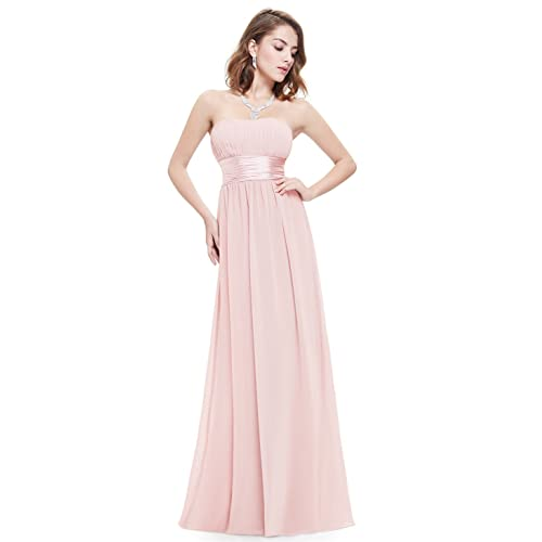 879aaa9c37a5 Ever-Pretty Women's Strapless Ruched Bust Chiffon Long Sexy Evening Dress  09955