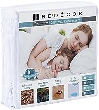 """Bedecor Bed Bug Blocker Zippered Waterproof Mattress Encasement Smooth Polyester Cover Queen 13"""" Deep"""