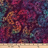 Hoffman 0668247 Bali Batik Dandelion Zinfandel Fabric