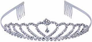 Crystal Tiara Crown For Women - Encci Gorgeous Pretty Crystal Tiara Crown Headband Princess Elegant Crown with Combs for Women Girls Bridal Wedding Prom Birthday Party (Beautiful)