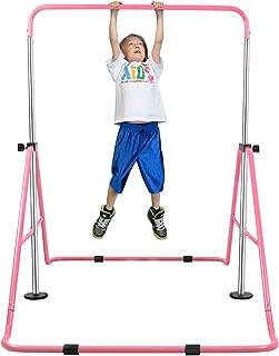 YEEGO Expandable Gymnastics Bar, Folding Horizontal Kip Bars Junior Premium Gymnastic Equipment Monkey Climbing Tower Home Training for Kids