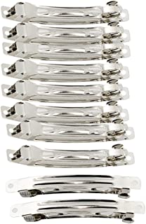Baoblaze Pack of 50 Silver French Barrette Clips DIY Craft Supplies for Girls Toddlers Hair Pins - silver, 8cm