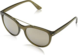Ray-Ban Women's Plastic Woman Non-Polarized Iridium Round Sunglasses, Opal Olive Green, 55 mm