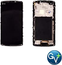 Group Vertical Replacement Complete Frame LCD Touch Digitizer Screen Assembly Compatible with LG V10 (Black) (H960A, H900, H901, VS990) (GV+ Performance)