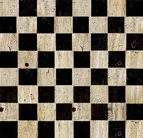 Oedim Teppich Schachbrett PVC | 95x200cm | PVC-Teppich | Vinylboden | Dekoration