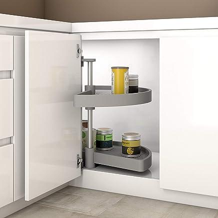 Gedotec Halbkreis Schwenkbeschlag Küche Drehbeschlag Mit Tablarboden Für  Eckschrank | Drehteller Für Unter Schrank