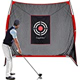 Gagalileo Golf Practice Net 9x9Feet Golf Hitting Nets Driving Range Indoor Outdoor Golf Training Aids with Target Carry Bag