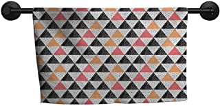 xixiBO Wholesale Towel W 14 x L 14(inch) Quality Bath Towel,Colorful,Triangles in Pastel Colors and Hand Drawn Style Vintage Texture Geometric Modern,Multicolor