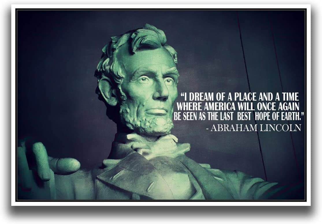 MR CI JSC281 Abraham Lincoln by 18-Inches Our shop most popular 12-Inch Quote New sales Poster