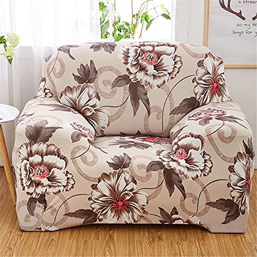 ALWWL Cubiertas de sofá de Tejido de poliéster Super elástico, Cubierta Protector de Muebles para Sala de Estar, Funda de sofá Jacquard con la Misma Funda de Almohada de Estilo- Pattern 16   1 Seater