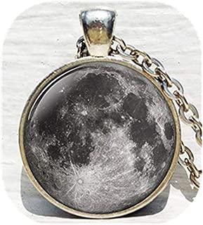 REGNO Unito GLOW IN THE DARK MOON WOLF Collana con ciondolo a forma di grandi dimensioni//gioielli idea regalo