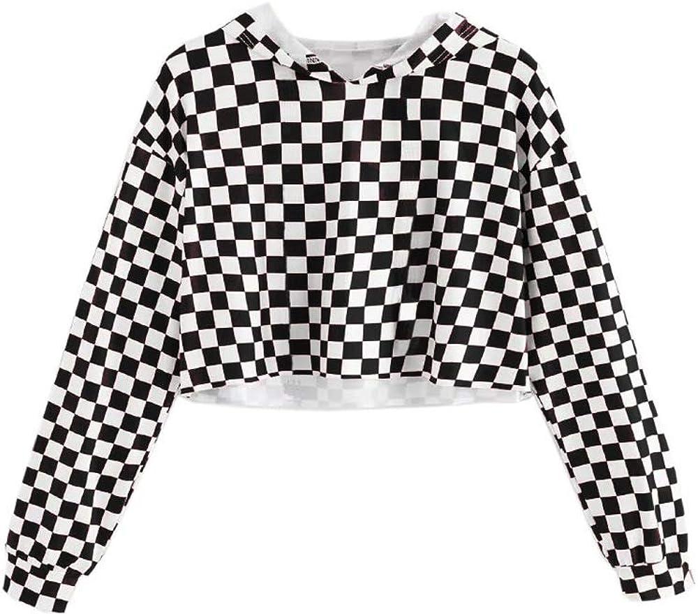 Girls Unicorn Crop Tops Kids Cute Hoodies Long Sleeves Pullover Sweatshirts