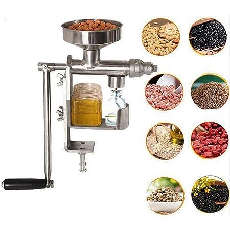 Fairmall 家庭用 卓上油搾り機 搾油機 手動式 油しぼり器 油搾り機 オイルプレスマシン ステンレス製 耐久性のある ナッツオイルやシードオイルをご自宅で!