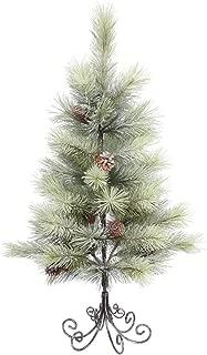 Vickerman E155835 Unlit Frosted Bellevue Pine Artificial Christmas Tree, 3' x 21