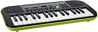 Casio SA-46H5 SA-46 - Teclado electrónico (32 teclas mini, plástico, 2 altavoces integrados), color negro y verde