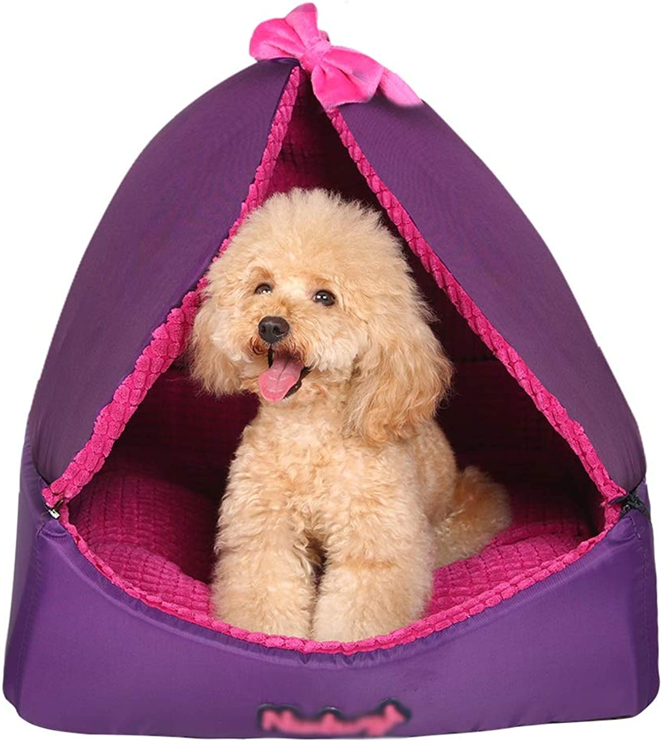 Pet house kennel Deep Sleeping Comfortable and breathable Wasable Pet room Oxford panno adatto per tutte le stagioni (Size:50 * 50 * 50)