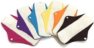 6 Maxi Bamboo Mama Cloths/Menstrual Sanitary Pads/Panty (Maxi, Mixture)