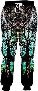 3dPant Hombre Personalidad Colorida pantalón 3D Impreso Cielo Estrellado árbol SP ex Pantalones