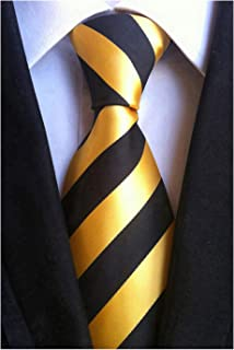 black shirt gold tie