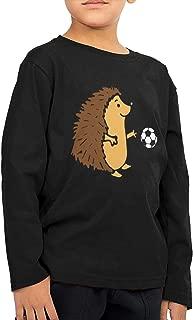 Little Boys Hedgehog Playing Soccer ComfortSoft Long Sleeve T-Shirt