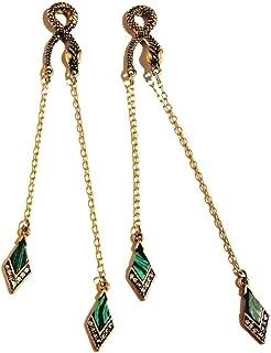 Goldtone Egyptian Revival-Inspired Snake Earrings serpent asp viper