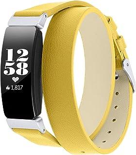 Jennyfly Inspire Lot de 2 bracelets en cuir véritable pour femme avec boucle en métal réglable 14 à 20,3 cm Compatible ave...
