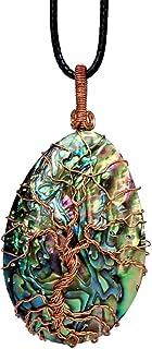 Tessuto a mano dell'albero della collana di vita Collana di rame della collana del pendente avvolto Collana a pendente in ...