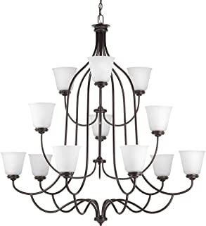 Progress Lighting P4752-20 Traditional/Casual 12-75W Med Chandelier, 168.5