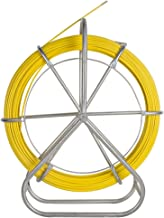 Zorvo Cable Duct Coated Fiberglass Continuous Duct Rodder with Cage and StandDuct Rodder Conduit Rodder Fish Tape Continuous Fiberglass Wire Cable Running with Cage and Wheel Stand