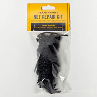 Texas Haynet - Netting Repair Kit - Nylon Mesh Repair Kit to Fix Your Round Bale or Regular Hay Nets - Made in The USA - Includes Nylon Twine & Mesh Patches