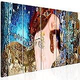 murando Cuadro en Lienzo Gustav Klimt Madre e Hijo 200x80 cm Impresión de 5 Piezas Material Tejido no Tejido Impresión Artística Imagen Gráfica Decoracion de Pared Tejido-no Tejido l-A-0015-b-m