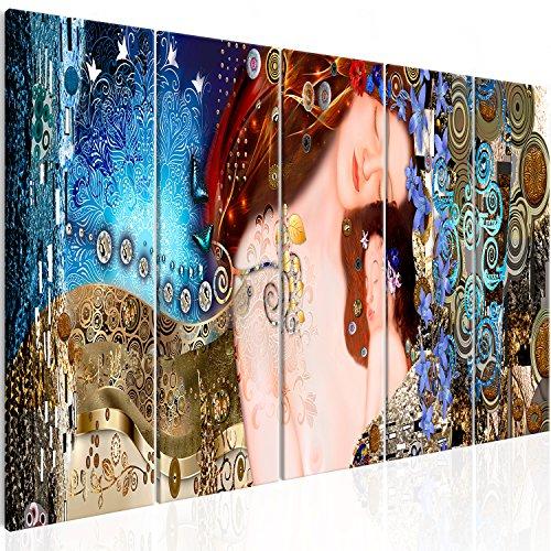 murando - Cuadro en Lienzo Gustav Klimt Madre e Hijo 200x80 cm Impresión de 5 Piezas Material Tejido no Tejido Impresión Artística Imagen Gráfica Decoracion de Pared Tejido-no Tejido l-A-0015-b-m