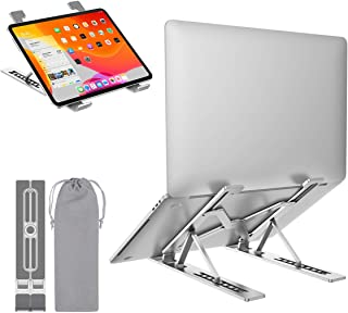 (Upgraded Newest) Laptop Stand, Ergonomic Foldable Aluminum Computer Stand, Portable Riser Notebook Holder, 7 Levels Heigh...