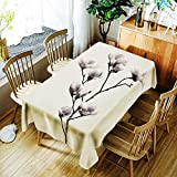 XXDD Mantel de Loto 3D Fondo Puro Flor de Diente de león y patrón de niña Cubierta de Mantel Impermeable y a Prueba de Polvo A10 135x160cm