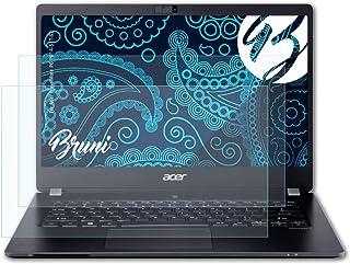 Bruni Skärmskydd är kompatibel med Acer TravelMate P6 P614-51T-G2 Film, kristallklart Skyddsfilm (2X)