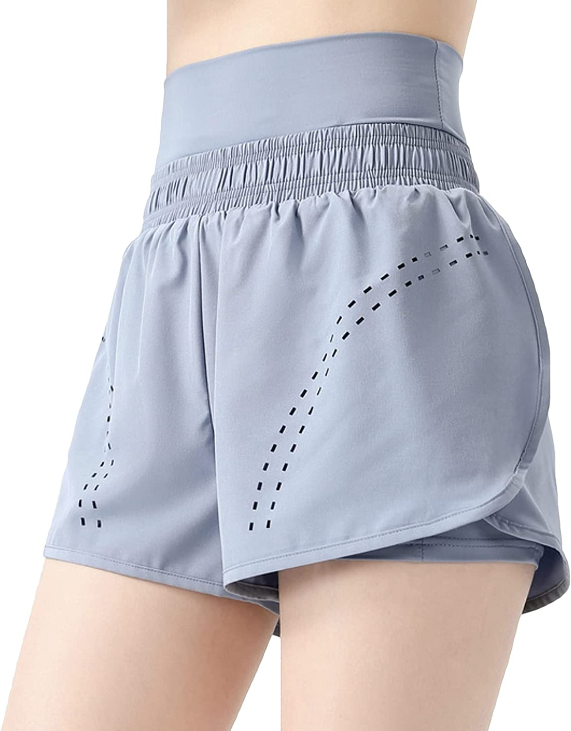 ALWAYS High Waisted Women's Shorts - Inner Layer Quick Dry Athletic Running Shorts