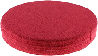 Baosity Yoga Meditation Cushion Knee/Wrist/Elbow Exercise Pad Corrosion-Resistant EPE Filled Linen Cover,and 11 Color Available