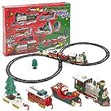 Train électrique de Noël - Son et Lumière - 22 pièces - Décoration de Noël Train avec Wagon père Noel, Sapin...