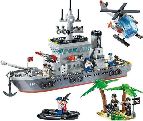 Yang   Blocs de Construction Jouets Porte-Avions, modèle de Porte-Avions, Blocs de Construction Puzzle Assembly Toys pour Enfants