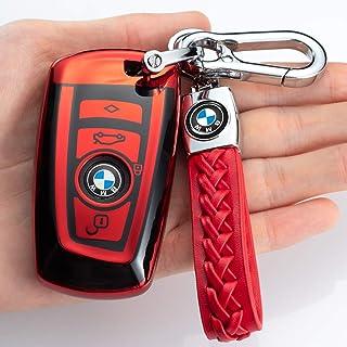 121Fruit Way Key Fob Cover for BMW, Key Fob Case for BMW 1 3 4 5 6 7 Series X3 X4 M5 M6 GT3 GT5 Remote Control Key Premium...