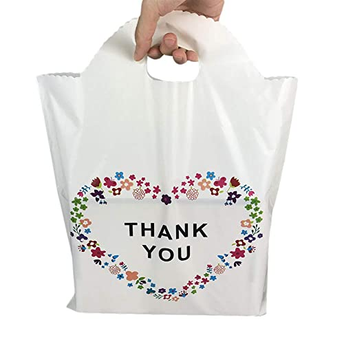 c0aa02cd6865 CO 12x16 Die-Cut Handle Plastic Thank You Floral Merchandise Shopping Bags