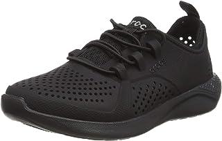 Crocs LiteRide Pacer K Kids School Shoes, Black/Black, 2 US