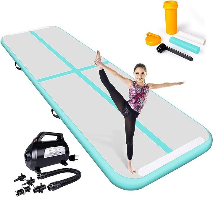 Tappetino gonfibile per allenamento stuoia gonfiabile della pista di aria di ginnastica B07B2VQ3C2