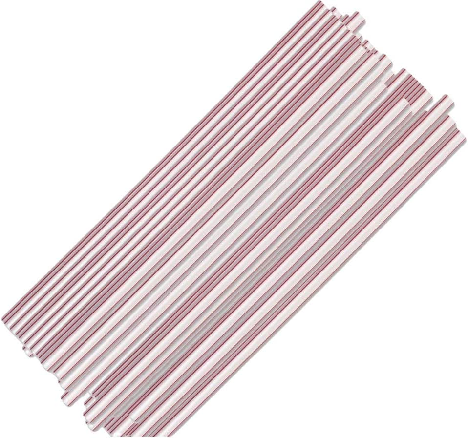 Cheap Max 85% OFF super special price 1InTheHome Jumbo Straws Plastic Drinking Red S And White
