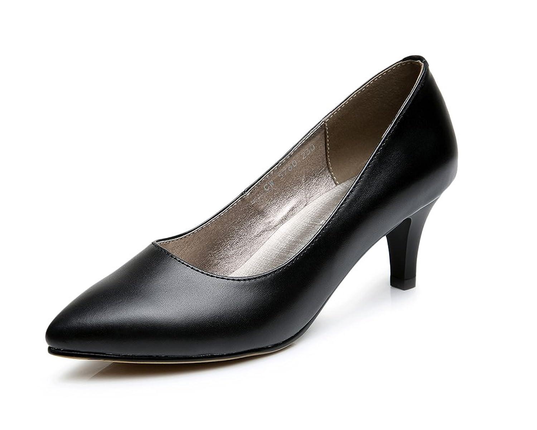 [TIOSEBON] パンプス 本革 レディース 走れるパンプス フォーマル 黒 リクルート レザー 革靴 ベーシック 歩きやすい オフィス 美脚 痛くない 幅広 3E 22cm~25cm