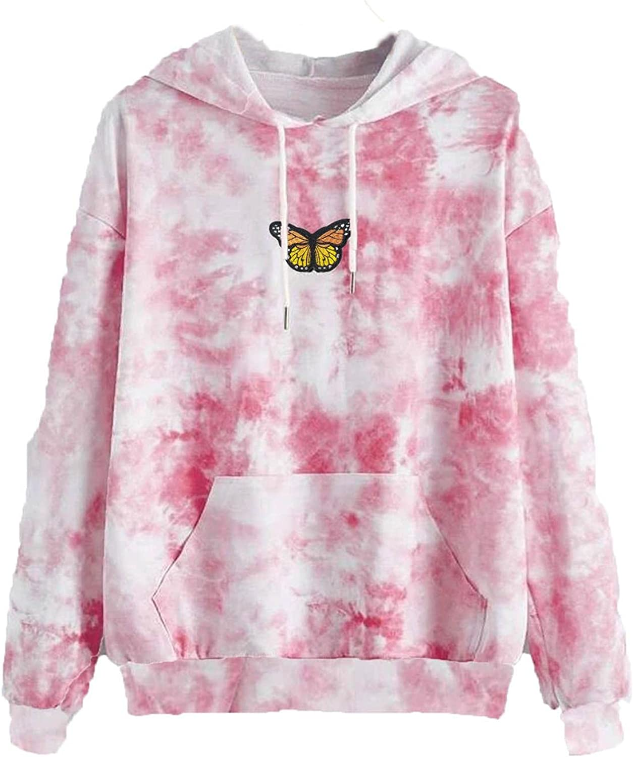 callcarl Cute Hoodies for Women Pullover Tie Dye Graphic Hooded