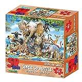 Howard Robinson Hr13583Animaux 63pièces Super Puzzle 3D pour Enfant–Africain Smile