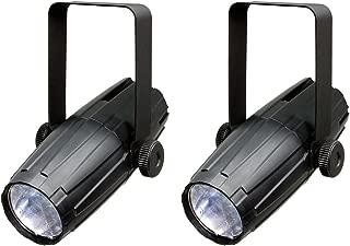 (2) NEW CHAUVET LED PINSPOT 2 High-Power 3W DJ Mirror Ball Spotlights w/RGB Gels