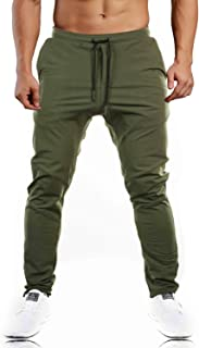 Men's Closed Bottom Sweatpants Zipper Pockets Drawstring Camo Joggers Pants for Gym Workout