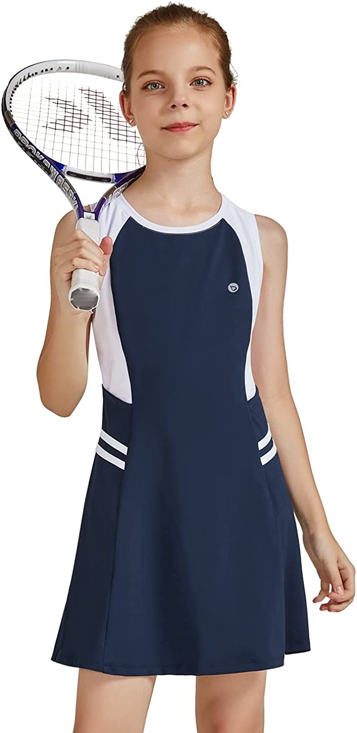 BALEAF Youth NEW before selling Girls Tennis Dress Sp Inexpensive Golf Outfit School Sleeveless
